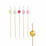 10 x  100 Fingerfood - Spieße 12 cm farbig sortiert Pearl