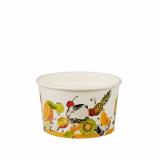 6 x  100 Eisbecher, Pappe pure rund 125 ml Ø 7,8 cm · 4,9 cm Früchte