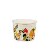 6 x  100 Eisbecher, Pappe pure rund 150 ml Ø 8 cm · 5,5 cm Früchte