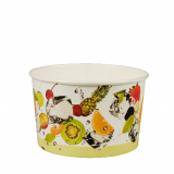 3 x  100 Eisbecher, Pappe pure rund 250 ml Ø 10,2 cm · 6,2 cm Früchte