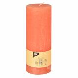 6 x  Zylinderkerze Ø 70 mm · 190 mm nektarine Rustic durchgefärbt