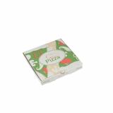 100 Pizzakartons, Cellulose pure eckig 20 cm x 20 cm x 3 cm