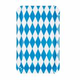 10 x  50 Teller, Pappe eckig 13 cm x 20 cm Bayrisch Blau