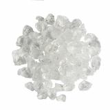 6 x  Deko - Steine aus Glas 500 ml klar 4 - 10 mm