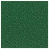 5 x  50 Servietten ROYAL Collection 1/4-Falz 40 cm x 40 cm dunkelgrün Casali
