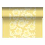 4 x  Tischläufer, stoffähnlich, PV-Tissue Mix ROYAL Collection 24 m x 40 cm gelb Adele