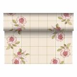4 x  Tischläufer, stoffähnlich, PV-Tissue Mix ROYAL Collection 24 m x 40 cm bordeaux Berryrose