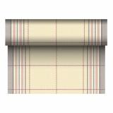 4 x  Tischläufer, stoffähnlich, PV-Tissue Mix ROYAL Collection 24 m x 40 cm braun Russel