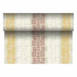 4 x  Tischläufer, stoffähnlich, PV-Tissue Mix ROYAL Collection 24 m x 40 cm braun Steam
