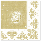 5 x  50 Servietten ROYAL Collection 1/4-Falz 40 cm x 40 cm gold Christmas