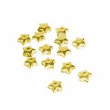 16 x  Deko-Accessoires 100 ml gold Sterne 12 mm