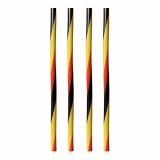 10 x  135 Shake-Halme Ø 8 mm · 25 cm schwarz/rot/gelb gedreht