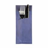 520 Bestecktaschen 20 cm x 8,5 cm blau inkl. weißer Serviette 33 x 33 cm 2-lag.