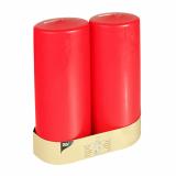 6 x  2 Stumpenkerzen Ø 80 mm · 220 mm rot mit Flachkopf