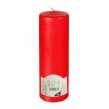 6 x  Stumpenkerze Ø 80 mm · 250 mm rot mit Flachkopf