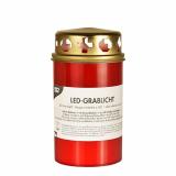 12 x  LED-Grablicht Ø 68 mm · 130 mm rot inkl. Batterien