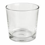 6 x  Deko-Glas rund Ø 130 mm · 130 mm glasklar