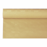12 x  Papiertischtuch mit Damastprägung 6 m x 1,2 m sand