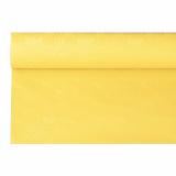 12 x  Papiertischtuch mit Damastprägung 6 m x 1,2 m gelb