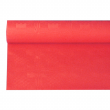 12 x  Papiertischtuch mit Damastprägung 6 m x 1,2 m rot