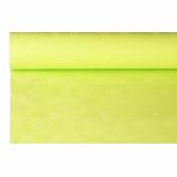 12 x  Papiertischtuch mit Damastprägung 6 m x 1,2 m limonengrün
