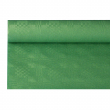 12 x  Papiertischtuch mit Damastprägung 6 m x 1,2 m dunkelgrün