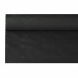 12 x  Papiertischtuch mit Damastprägung 6 m x 1,2 m schwarz