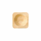 10 x  25 Schalen, Palmblatt pure eckig 6 cm x 6 cm x 1,3 cm