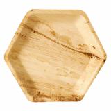 4 x  25 Teller, Palmblatt pure 6-eckig 23,5 cm x 3 cm