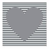 12 x  30 Servietten, 3-lagig 1/4-Falz 33 cm x 33 cm grau Hearty