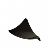 10 x  50 Fingerfood - Dreieck Schalen, PS 7,7 cm x 9,5 cm x 9,5 cm schwarz