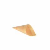 10 x  50 Fingerfood - Spitztüten, Holz pure Ø 4,5 cm · 8,5 cm