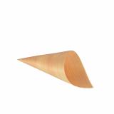 10 x  50 Fingerfood - Spitztüten, Holz pure Ø 6,5 cm · 12,5 cm