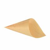 10 x  50 Fingerfood - Spitztüten, Holz pure Ø 8 cm · 15,5 cm
