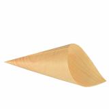 10 x  50 Fingerfood - Spitztüten, Holz pure Ø 11 cm · 21 cm