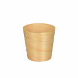 10 x  50 Fingerfood - Schalen, Holz pure rund Ø 6 cm · 6 cm