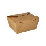 10 x  50 Lunchboxen, Pappe pure 750 ml 6,3 cm x 9 cm x 11,3 cm braun