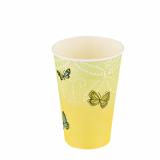 14 x  10 Trinkbecher, Pappe 0,2 l Ø 7 cm · 9,7 cm Papillons