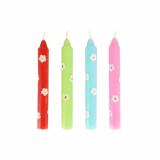 12 x  4 Geburtstagskerzen Ø 1,15 cm · 10 cm farbig sortiert (für Art. 85188)