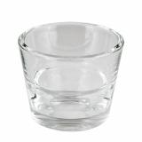 12 x  Kerzenhalter, Glas rund Ø 80 mm · 65 mm glasklar Two in One