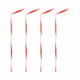 24 x  40 Trinkhalme, flexibel Ø 5 mm · 21 cm rot/weiss gedreht
