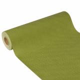 4 x  Tischläufer, stoffähnlich, Vlies soft selection plus 24 m x 40 cm olivgrün