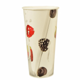 20 x  50 Shake-Becher, Pappe 0,5 l Ø 9 cm · 16,8 cm Berries