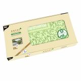 5 x  12 Mitteldecken, stoffähnlich, PV-Tissue ROYAL Collection Plus 100 cm x 100 cm olivgrün Damascato