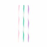 20 x  25 Trinkhalme Ø 6 mm · 21 cm farbig sortiert Wave gedreht