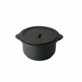 10 x  10 Fingerfood - Schalen, PS 350 ml Ø 10 cm · 7 cm schwarz Cacerola con tapa