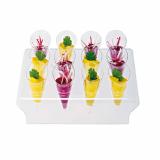 10 x  Fingerfood-Set, PS glasklar Cones 65-teilig
