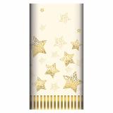 5 x  Tischdecke, stoffähnlich, Airlaid 120 cm x 180 cm creme Sparkling Stars