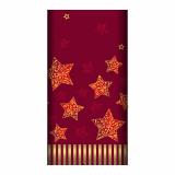5 x  Tischdecke, stoffähnlich, Airlaid 120 cm x 180 cm rot Sparkling Stars