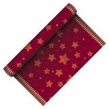6 x  Tischläufer, stoffähnlich, Airlaid 3 m x 40 cm rot Sparkling Stars